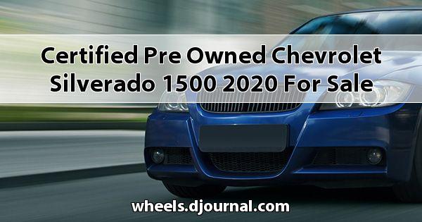 Certified Pre-Owned Chevrolet Silverado 1500 2020 for sale in Tupelo, MS