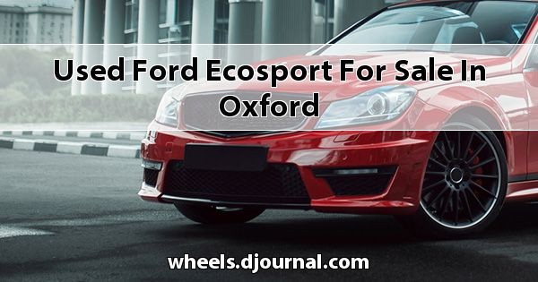 Used Ford EcoSport for sale in Oxford