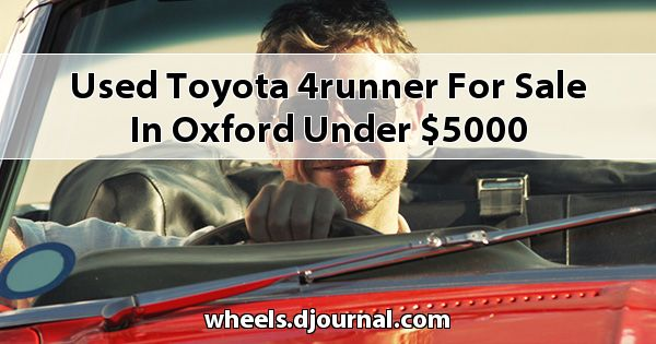Used Toyota 4Runner for sale in Oxford under $5000