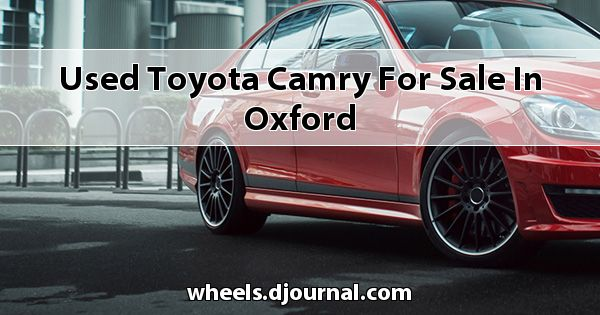 Used Toyota Camry for sale in Oxford