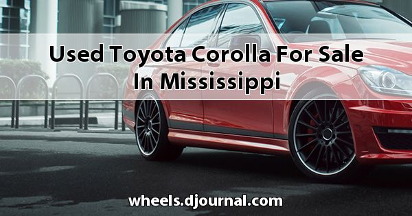 Used Toyota Corolla for sale in Mississippi