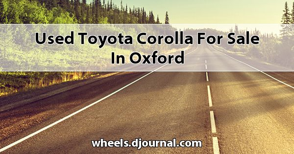 Used Toyota Corolla for sale in Oxford