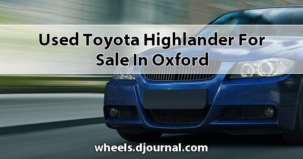 Used Toyota Highlander for sale in Oxford